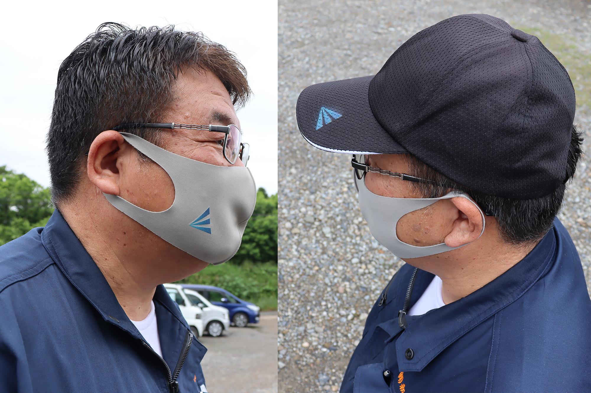 帽子とマスクの印刷